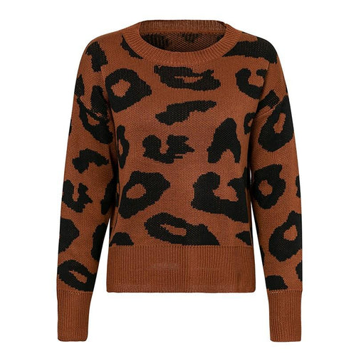 Women - Apparel - Sweaters - Pull Over - Animal Print Sweater