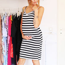 Maternity Stripes Cami Dress