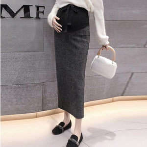 Maternity High Waist Lift Belly Casual Skirt