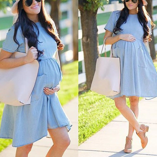 Little Bule  Maternity  Midi Dress
