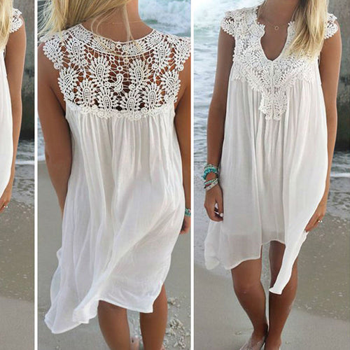 Lace Patchwork Short Dress