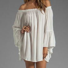 Off Shoulder Chiffon Dress