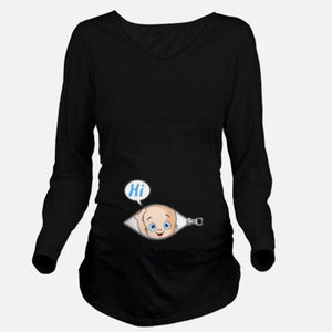 Cute Cartoon Baby Print Long Sleeve Shirt