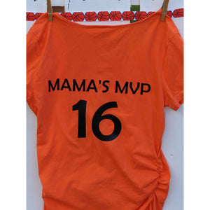 Basketball Print Maternity Top