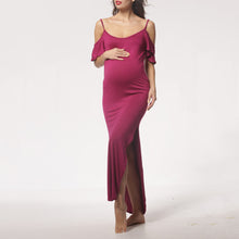 Maternity Cold Shoulder Full Length Cami Dress
