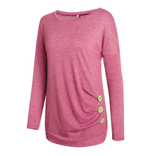 Maternity Round Collar Long Sleeve Tee