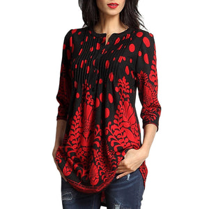 Maternity Floral Prints 3/4 Sleeve Pullover
