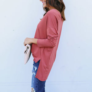 Maternity Casual V-Neck Long Sleeve Pullover