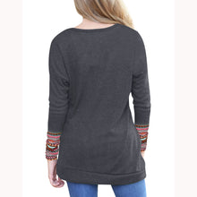Maternity Button Decorated Long Sleeve Tee