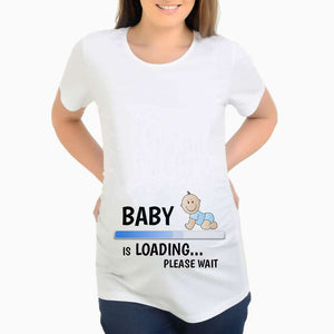 Maternity Slogon Pattern T-Shirt