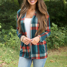 Plaid Long Sleeve Cardigan