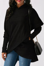 Asymmetric Hem Loose Fitting  Plain Hoodies