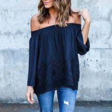 Off Shoulder Lace Work Tee