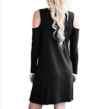 Cold Shoulder Long Sleeve Short Dress