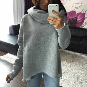 Irregular Collar Asymmetrical Sweatshirt