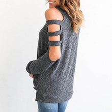 Cold Shoulder Long Sleeve Pullover