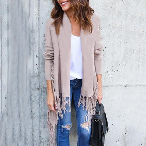 Tassels Knitted Cardigan