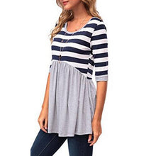 Patchwork Stripes Long Sleeve Tee