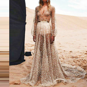 Sexy Sequins Big Swing Party Evening Dress