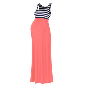 Maternity Stripe Maxi Tank Dress