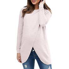 Maternity Front Slit Ribbed Pullover