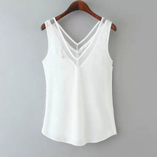 Elegant V-Neck Asymmetric Hem Plain Vests