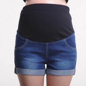 Maternity Abdomen Supportive Jeans Shorts