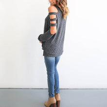Round Collar Long-Sleeved Solid Color Sexy T-Shirt