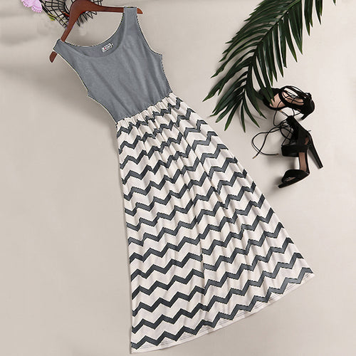 Stripes Cami Summer Women Casual Dress