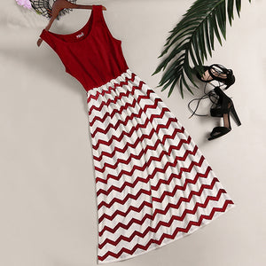 Stripes Matching Cami Summer Women Dress