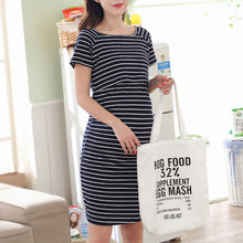Maternity Stripe Nursing Short Dress