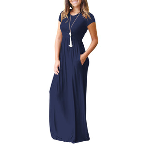 Short Sleeve Full Length Dress