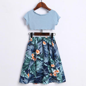 Botanical Prints Women Causal Dress