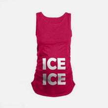 Maternity Ice Ice Letter Print Sleeveless Tanks Top