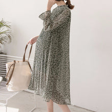 Maternity Floral Print Chiffon Knee-Length Dress