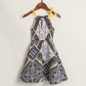 Tribal Prints Sleeveless Summer Women Dress