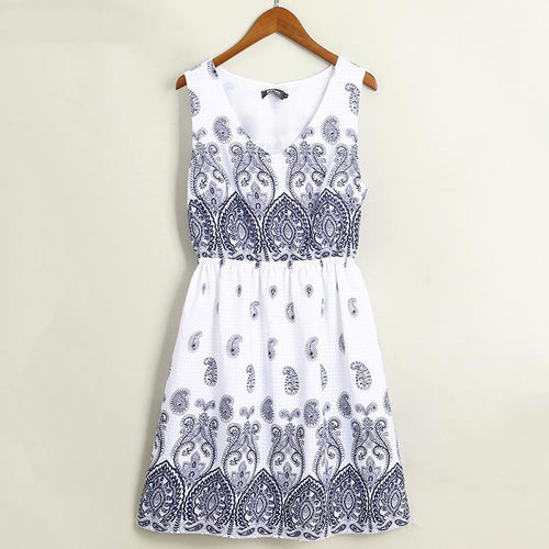 Tribal Prints Women Causal Dress