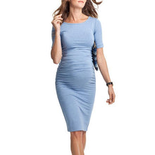 Maternity Short Sleeve Knee-Length Dress