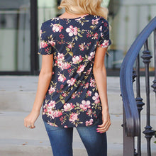 Crisscross Flowers Print T-Shirt