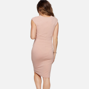 Maternity Ruched Sleeveless Short Dress