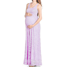 Maternity Lace Sleeveless Maxi Dress