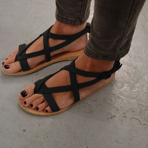 Flip-Flops Buckle Flocking Sandals
