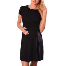 Maternity Round Neck Feeding Dress