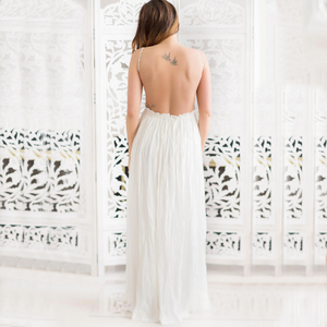 Maternity Open Back Sleeveless Maxi Dress