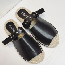 Daily Buckle Flat Heel Casual Slippers
