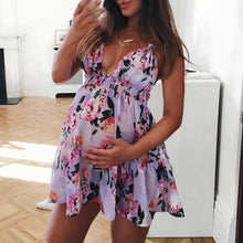 Maternity Flowers Print Cami Dress