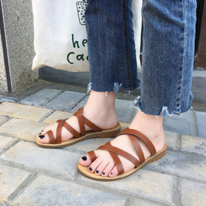 Strappy Flat Sandals Slipper