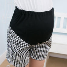 Maternity Houndstooth Abdomen Supportive Shorts