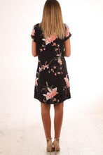 Round Neck  Floral Printed  Short Sleeve Casual Dresses