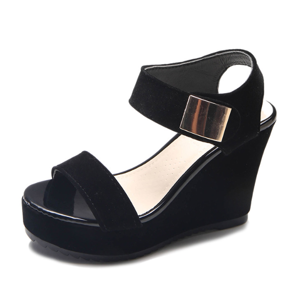 Magic Tape Wedge Heel Women Skid-Proof Platform Sandals